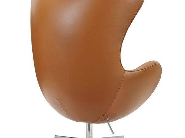 Grand Leather Lounge Chair Terracotta Froy