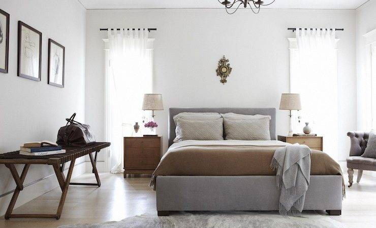 Gray Brown Bedroom Contemporary Simo Design