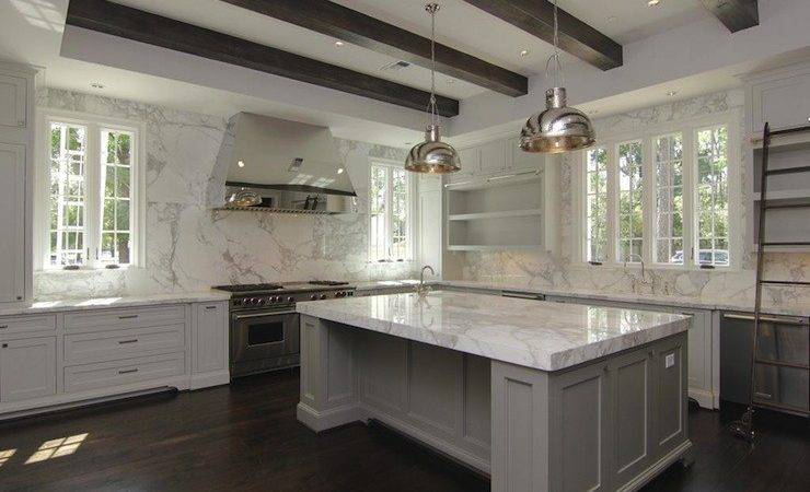 Gray Kitchen Cabinets Contemporary