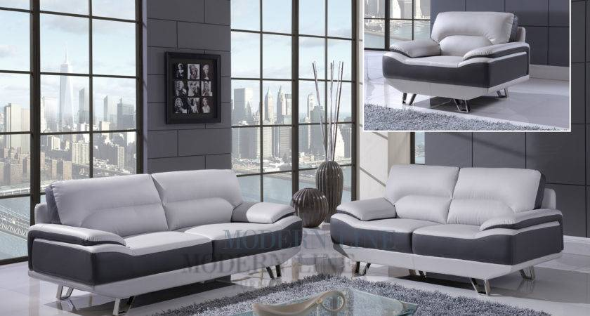 Gray Leather Living Room Set Modern House