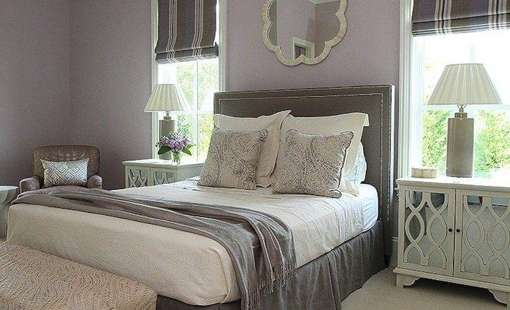 Gray Purple Bedroom Transitional Andrew