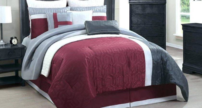 Gray Red Comforter Sets Daybed Black Ecfq Info