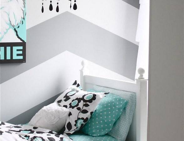 Gray Tiffany Blue Bedroom Small Makeover