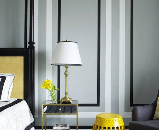 Gray Yellow Bedrooms Contemporary Bedroom Greg