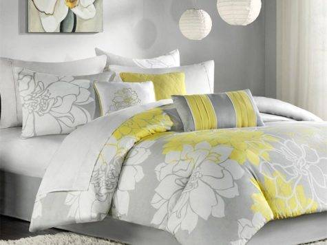 Gray Yellow Elizabeth Comforter Set Zulily