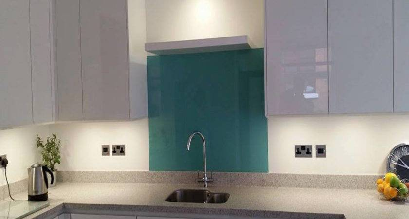 Green Blue Glass Splashbacks