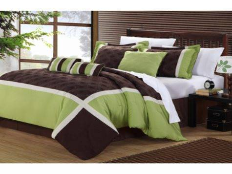 Green Brown Bedroom Lime Comforter