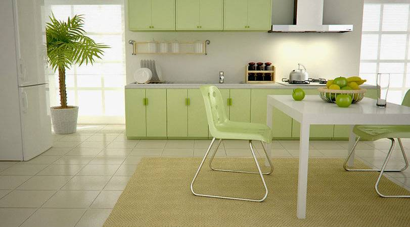 Green Kitchen Perfect Choice Wall