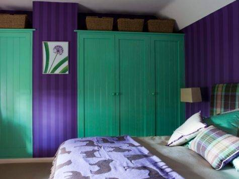 Green Purple Bedroom Colourful Bedrooms Fitted