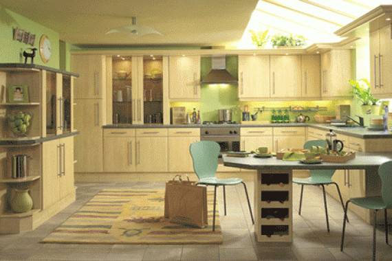 Green Yellow Kitchen Decor Housedesignpictures