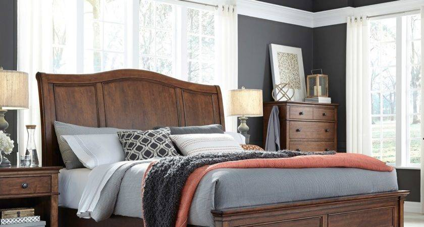 Grey Bedroom Walls Brown Furniture Indiepedia