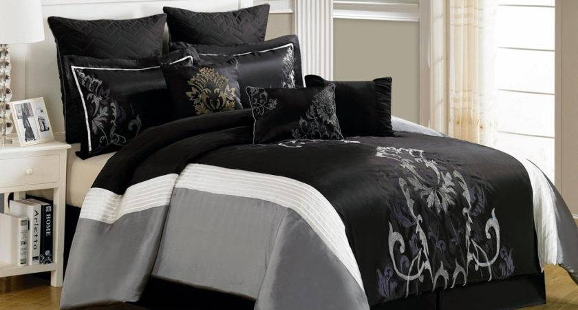 Grey Black Comforter Sets King