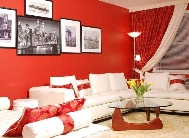 Grey Couch Living Room Red Ideas