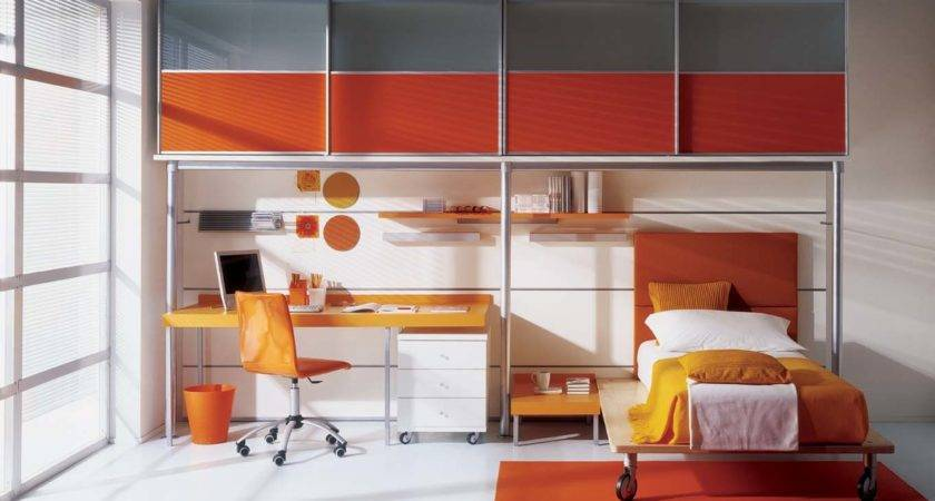 Grey Orange Kids Bedroom Interior Stylehomes