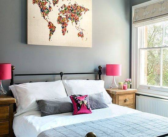 Grey Pink Bedroom Housetohome