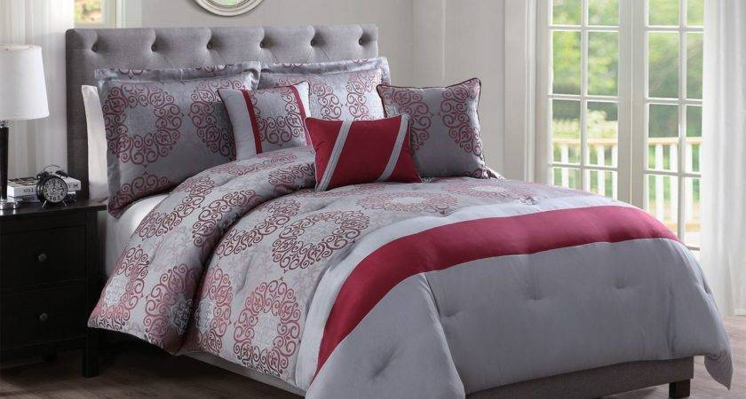 Grey Red Bedding Sets Home Ideas
