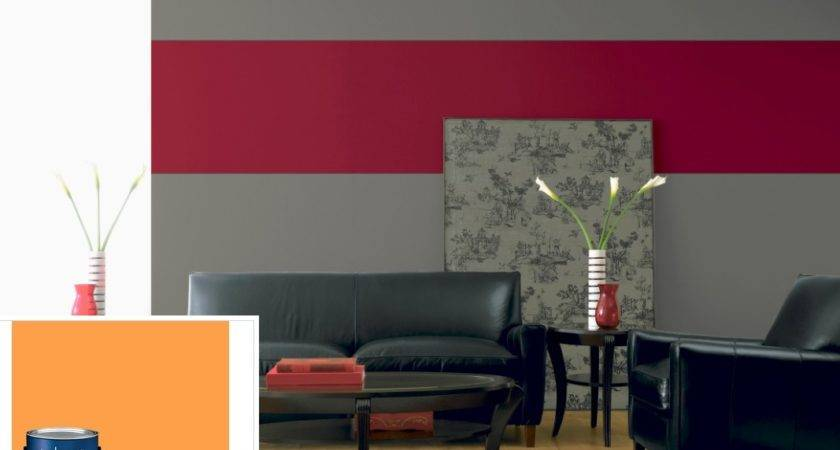 Grey Red Walls Living Room Imgkid