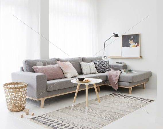 Grey Sofa Shape Same Cushion Minimalist Living
