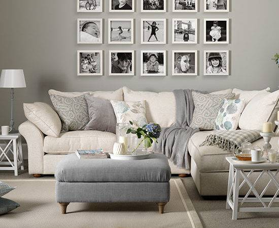 Grey Taupe Living Room Display Decorating