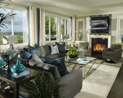Grey Turquoise Home Design Ideas Remodel