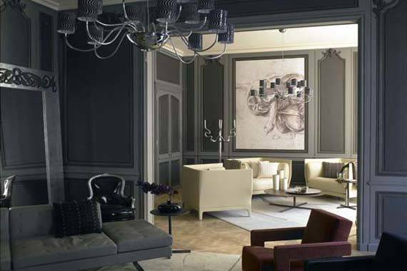Grey Walls Living Room Modern House