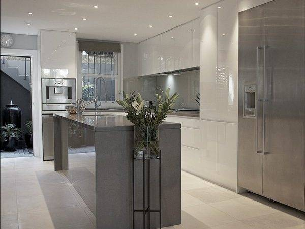 Grey White Kitchen Design Ideas Trendy Interiors