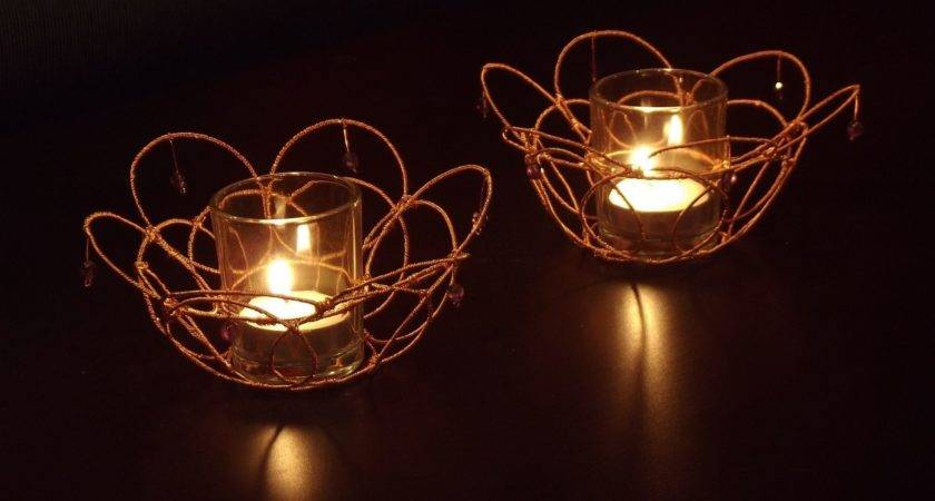 Hand Crafted Wire Wrapped Decorative Votive Candle Holders
