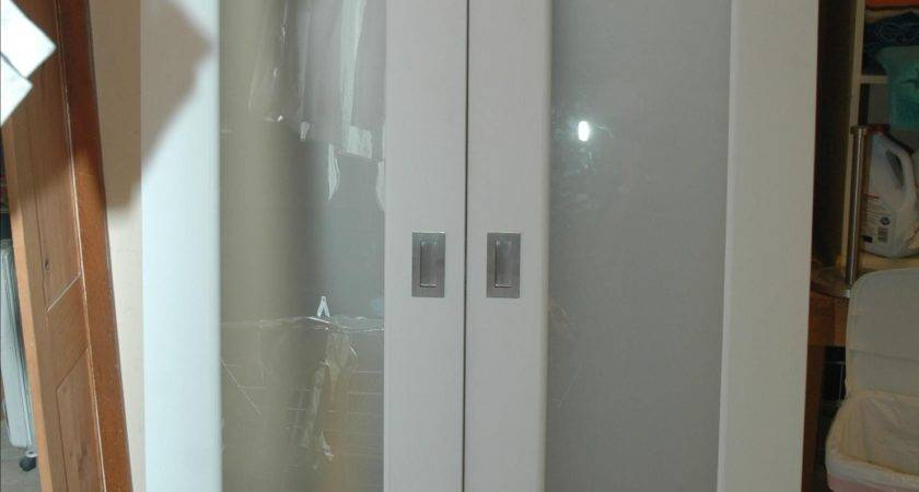 Handmade Closet Doors Frosted Glass Panels Wooden