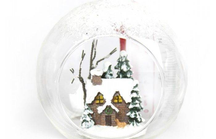Hanging Open Glass Bauble Christmas Tree Decoration