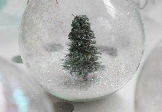 Happy Home Christmas Crafting Glass Bauble Snowglobe