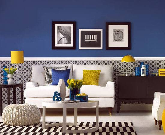 Have Fun Blue Yellow Rooms Design