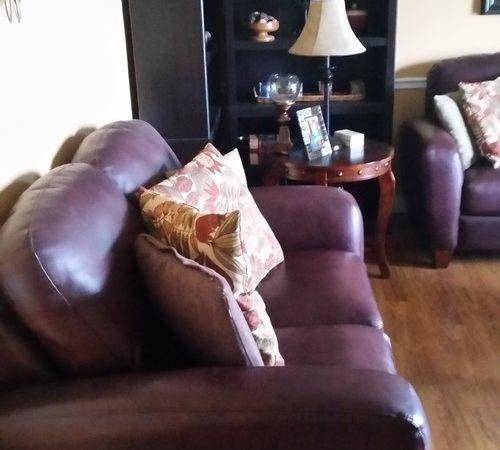 Help Trying Decorate Around Burgundy Leather Couch