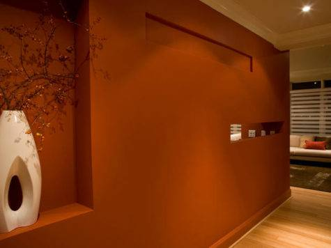 Hgtv Designers Portfolio Rust Colored Wall Paint
