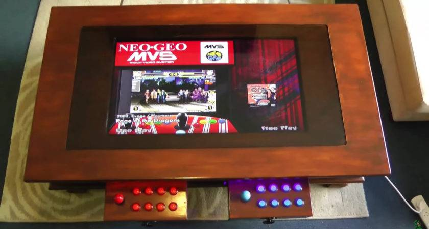 Hide Arcade Machine Your Coffee Table Make