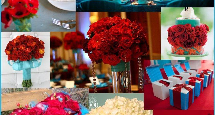 High Turquoise Red Decor