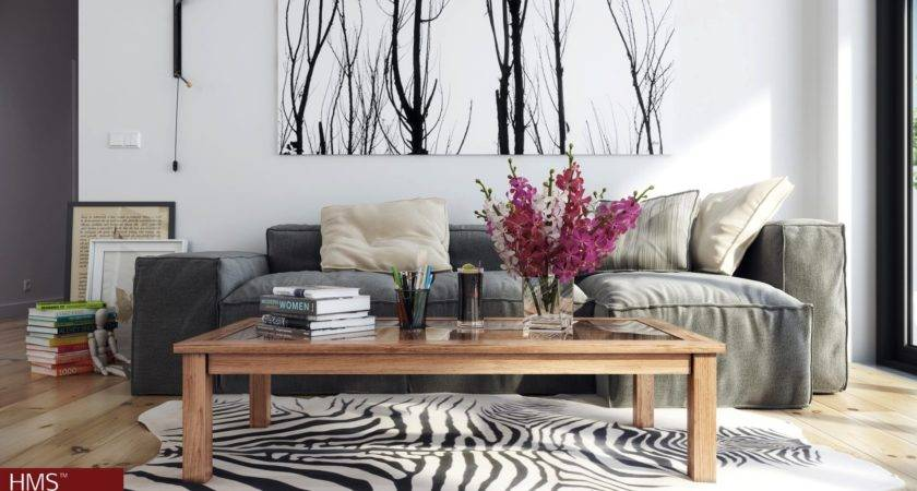 Hoang Minh Nordic Style Lounge Wintery Print