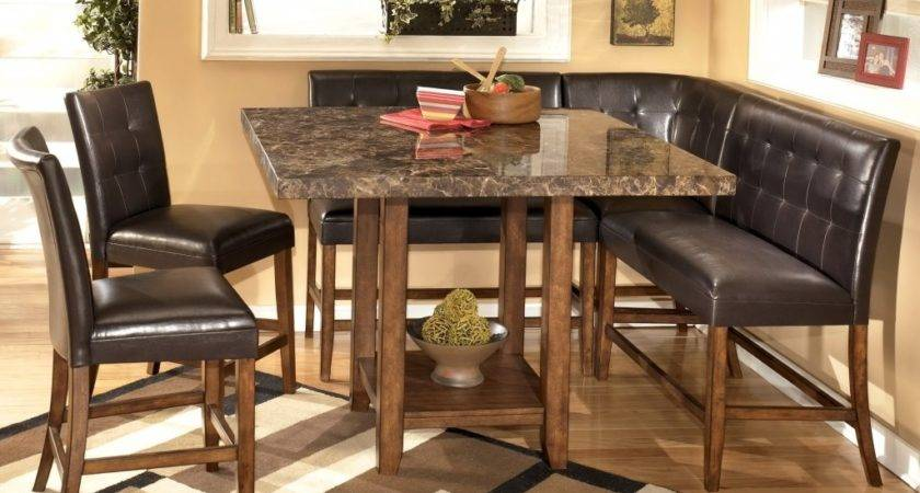 Home Design Dining Corner Booth High Table