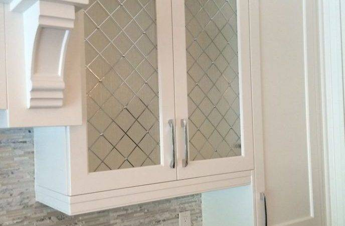 Home Design Frosted Glass Kitchen Cabinet Doors White