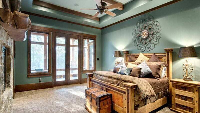 Home Design Rustic Bedroom Mountain Lodge