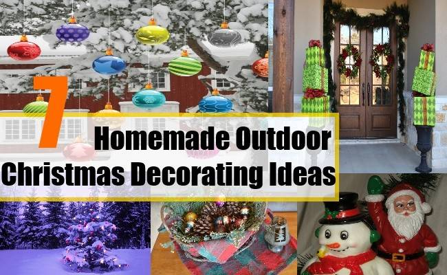 Homemade Outdoor Christmas Decorating Ideas