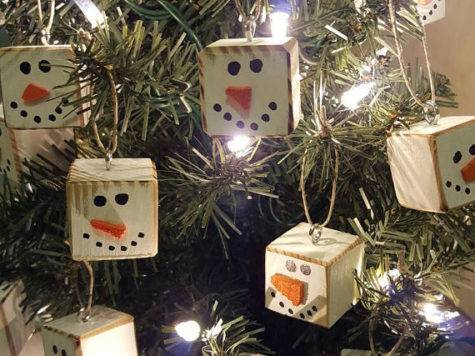 Homemade Primitive Christmas Tree Ornaments