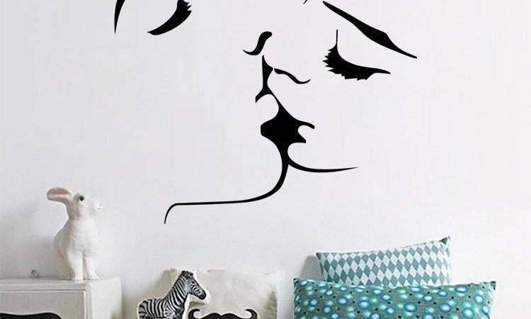 Hot Selling Romantic Kiss Wall Stickers Removable