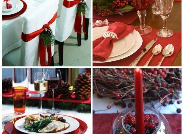 House Decor Christmas Dinner Table Setting