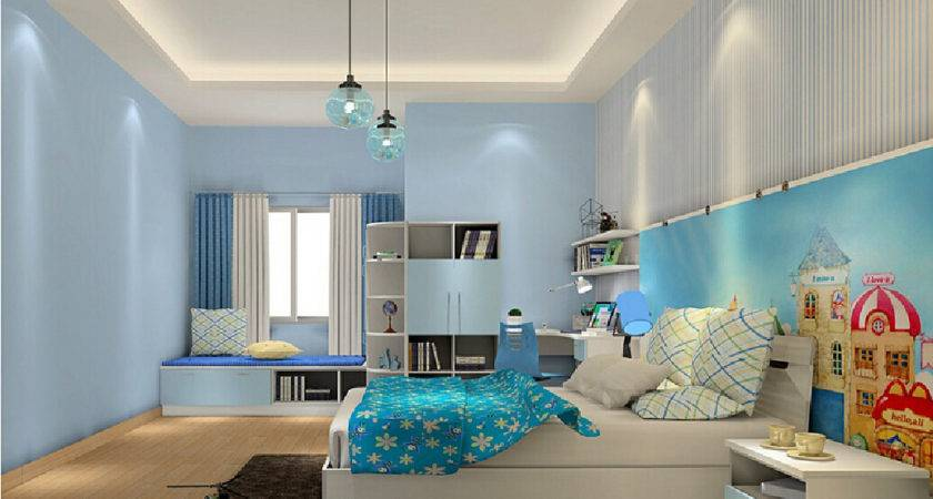 House Interior Designs Children Bedroom Blue