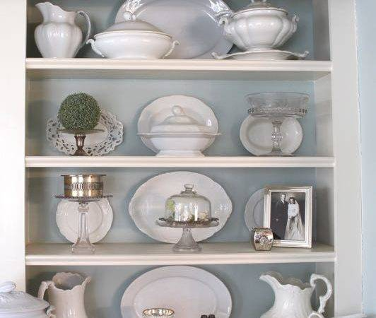 Ideas Decorating Shelves Vintage American Home