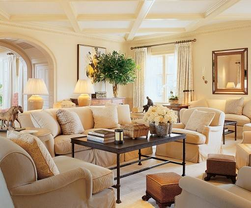 Ideas Elegant Beige Living Room Designs Top