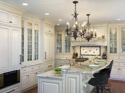 Ideas White Kitchen Island Chandeliers Decorating
