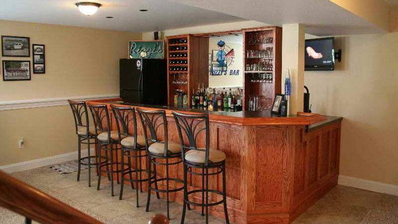 Ideas Wooden Furniture Basement Bar Designs
