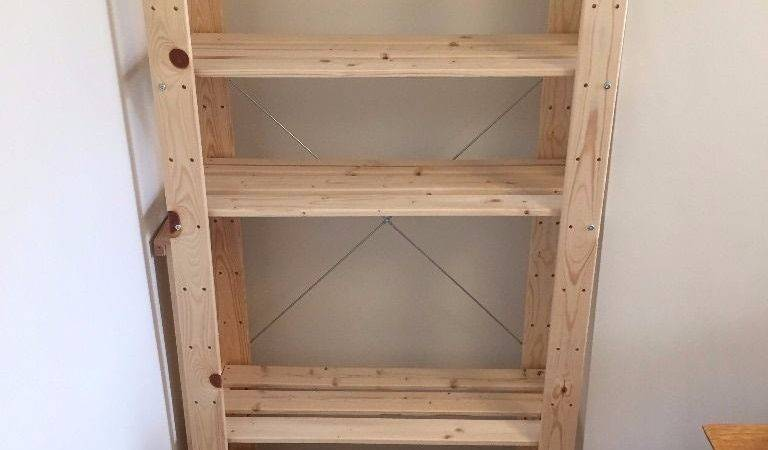 Ikea Pine Wooden Shelving Units Ivar Albert