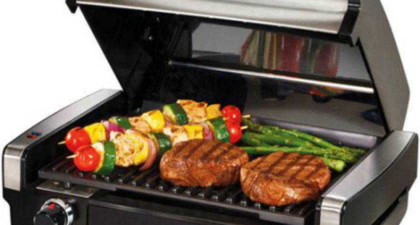 Indoor Bbq Grill Countertop Kitchen Appliance Searing